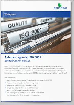 Cover: domeba Whitepaper ISO 9001